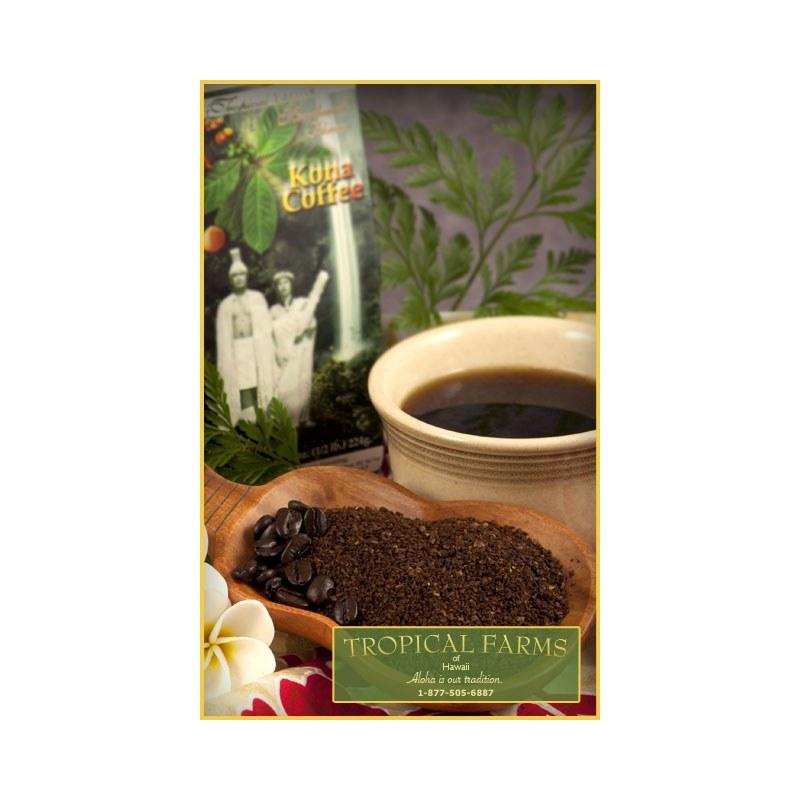 Tropical Farms Macadamia Nut Ground Coffee 8 oz
