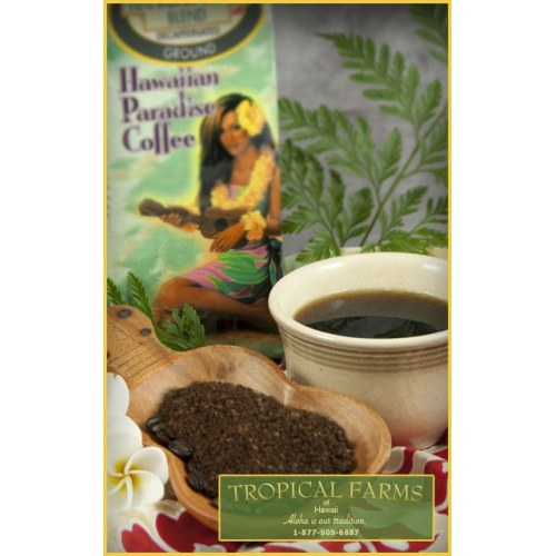 10% Kona Blend Decafinated Coffee 8 oz